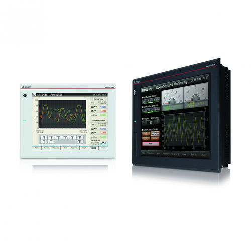HMI terminal with touch screen / panel-mount / Intel® Core™ i series / Modbus