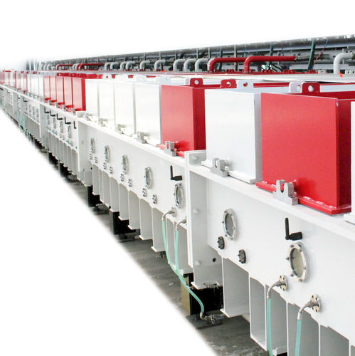 PVD deposition machine / sputtering / online / for glass coatings