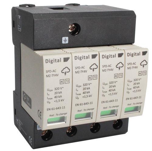 type 2 surge arrester / type 1 / multipole / DIN rail