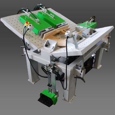 wood swivel folding machine