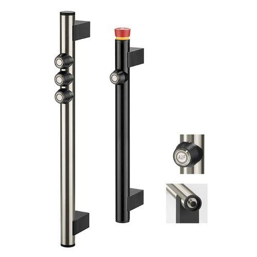 functional handle / door / aluminum / stainless steel