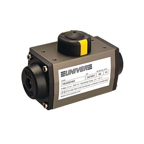 pneumatic valve actuator / rotary / piston / double-acting