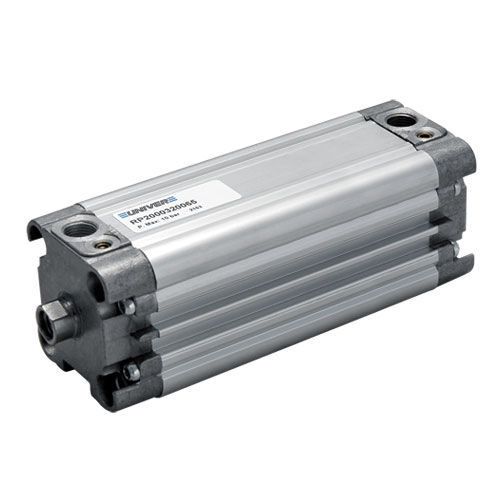 pneumatic cylinder / double-acting / with piston rod / compact