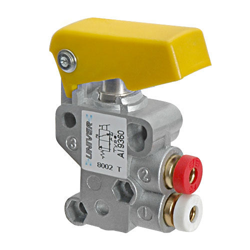spool pneumatic directional control valve / manual / mechanically-operated / 2/2-way
