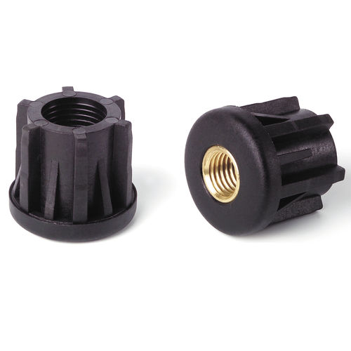 end cap with threaded insert / round / polyamide / for tubes