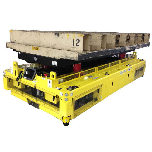electric stacker truck / AGV / for lifting / with platform