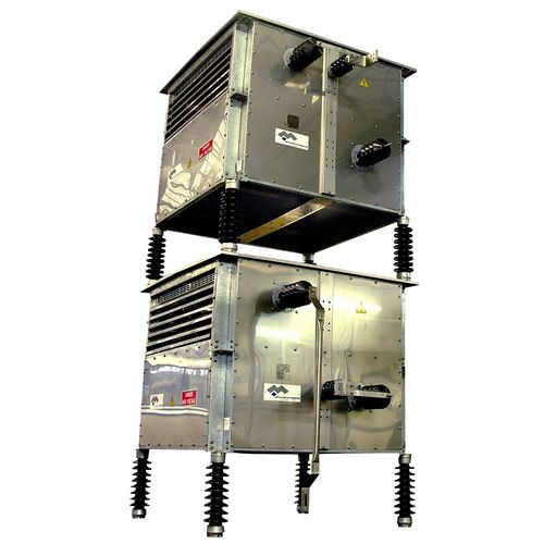 stainless steel-housed resistor / floor-standing / high-current / filter
