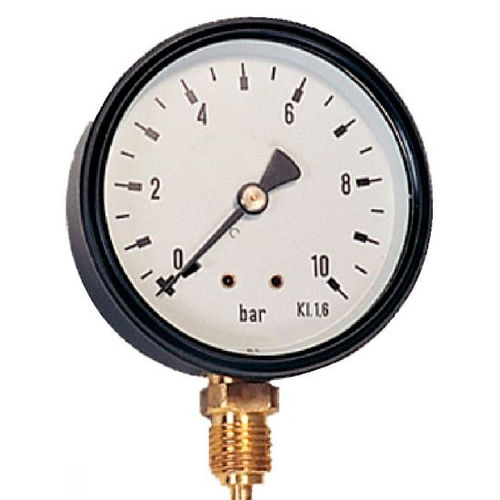 dry dial pressure gauge / Bourdon tube / for air / brass