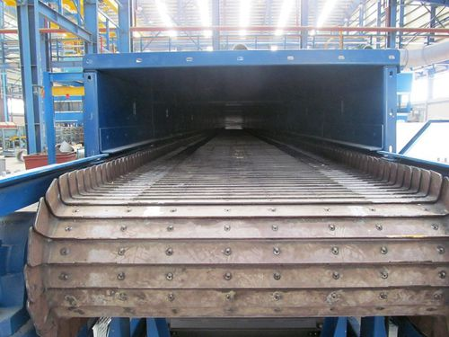 belt conveyor / for the metallurgical industry / horizontal / inclined