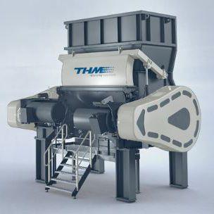 cardboard shredder / tire / metal / fabric