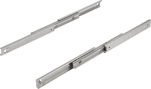 over-extension slide / telescopic / caged ball / stainless steel