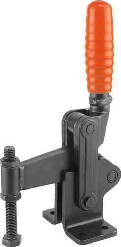 vertical toggle clamp / with fixed clamping spindle / for heavy loads
