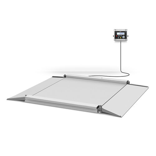 floor scale / with LCD display / stainless steel / four-cell