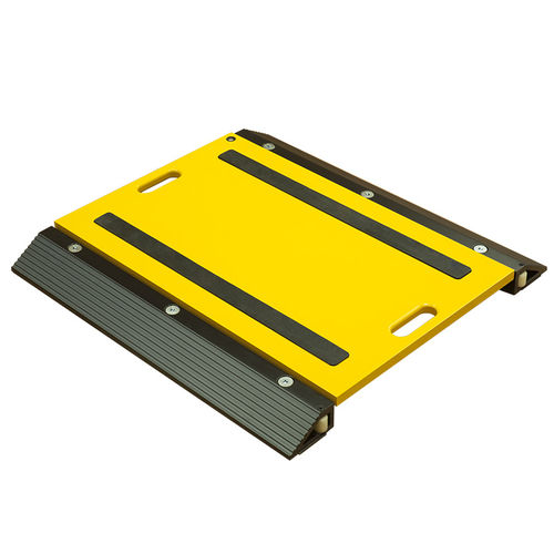 portable wheel scale / low-profile platform / rugged