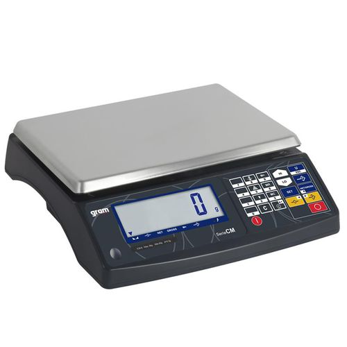 benchtop scale / counting / with LCD display / stainless steel
