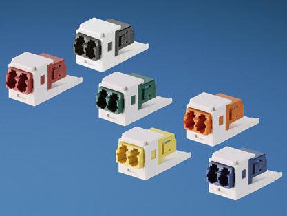 communication adapter / for fiber optics / LC