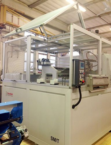 foam cutting machine / for PVC / guillotine / profile