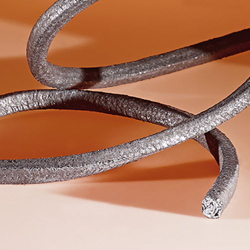 braided graphite packing / textile / high resistance / high-temperature