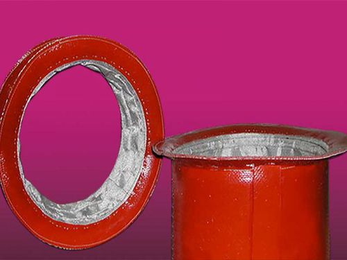 fabric pipe expansion joint / round / for pipes / flexible