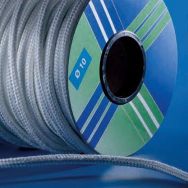 braided fiberglass packing / high resistance / high-temperature / for boilers