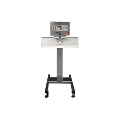 semi-automatic heat sealer / cap / by induction / vertical