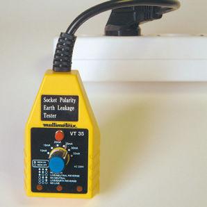 RCD tester / for plug sockets / portable