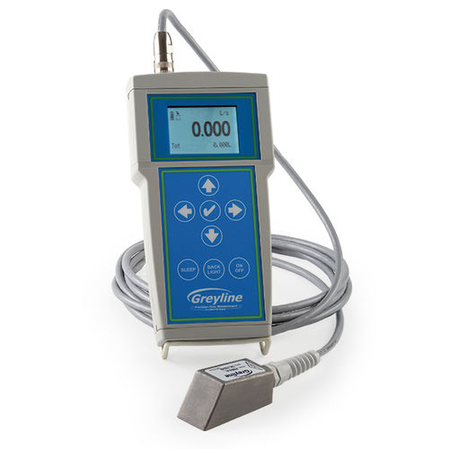 Doppler ultrasonic flow meter / for liquids / with LCD display / digital