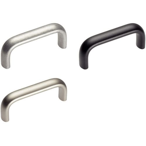 pull handle / door / aluminum / stainless steel