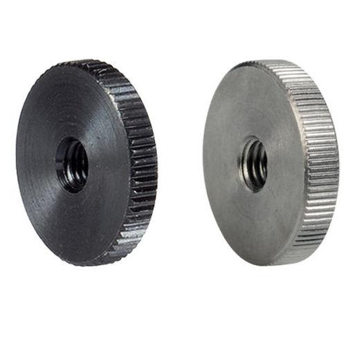 knurled nut / stainless steel / flat-head