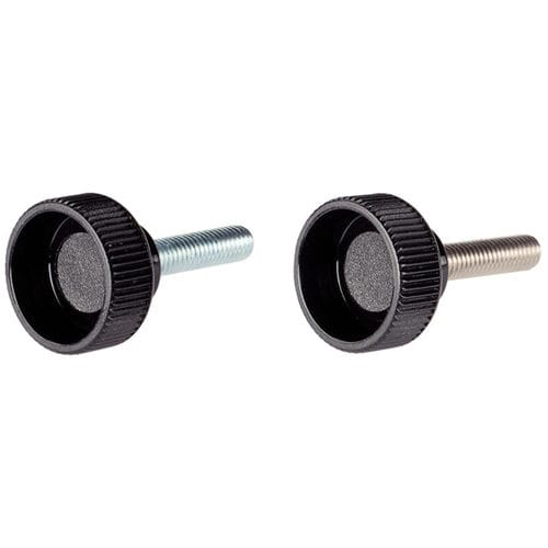 stainless steel knurled screw / thermoplastic