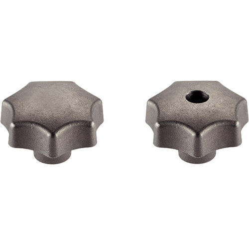 lobe knob / threaded / cast iron
