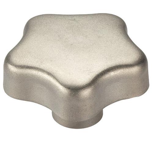lobe knob / threaded / stainless steel