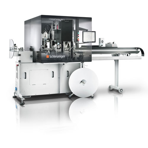 cable crimping machine / automatic / pneumatic / compact