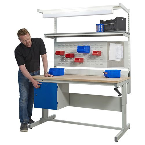 metal workbench / with drawer