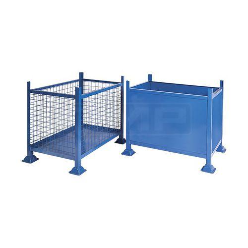 steel pallet box / storage / industrial / stacking