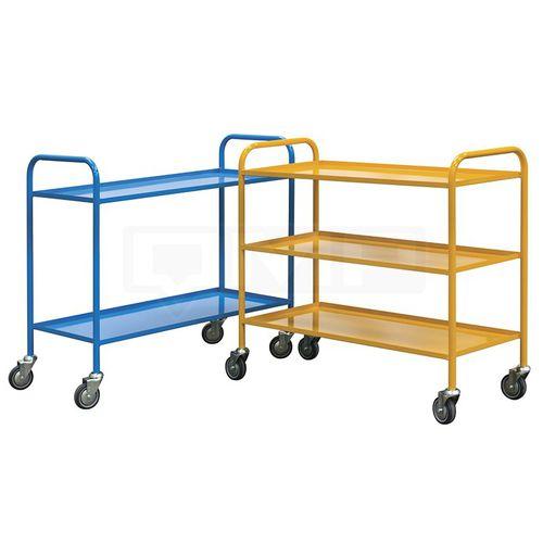 transport trolley / steel / shelf / industrial