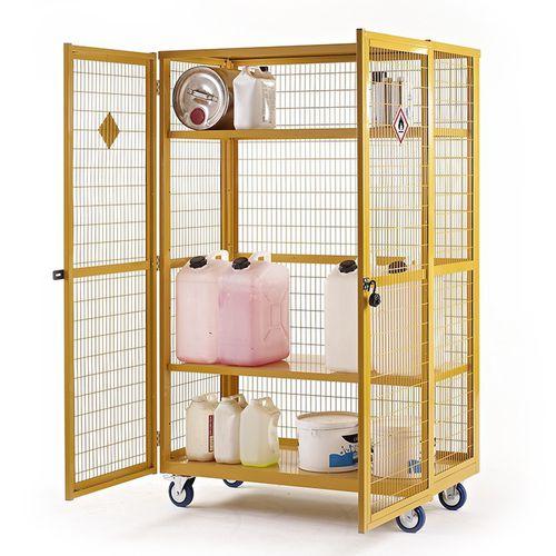 storage cart / metal / shelf / for equipment transport