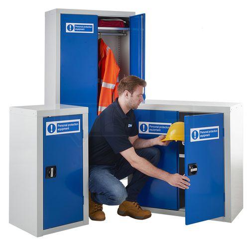 protective cupboard / floor-mounted / door / shelf
