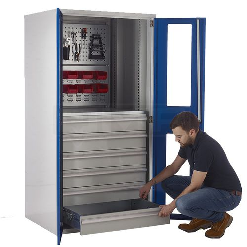 storage cupboard / floor-mounted / door / for tools