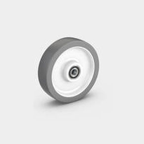 wheel with solid tire / polyurethane / for heavy loads / non-marking