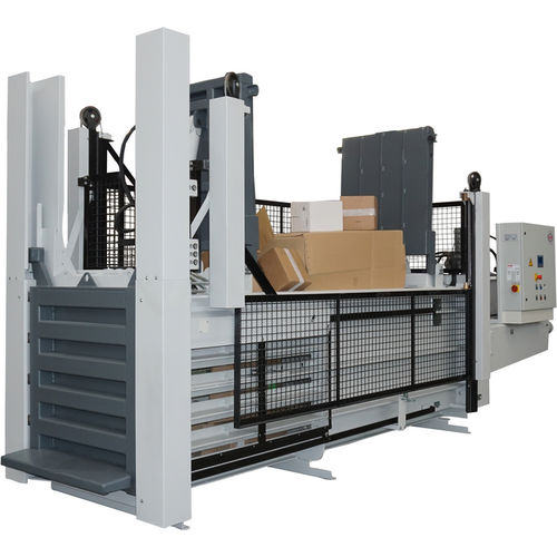 horizontal baling press / top-loading / for cardboard boxes / for paper
