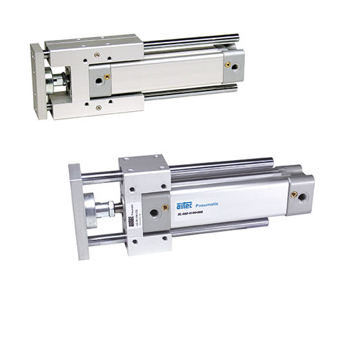 linear guide with recirculating ball carriage / aluminum / for cylinders