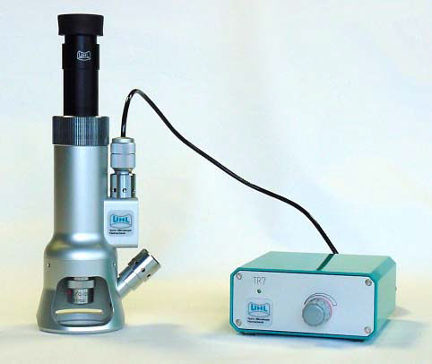 measuring microscope / opto-digital / portable / depth measurement