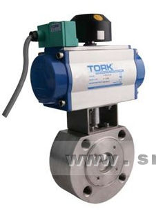 ball valve / pneumatically-operated / for steam