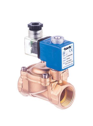 2/2-way solenoid valve / for steam / membrane