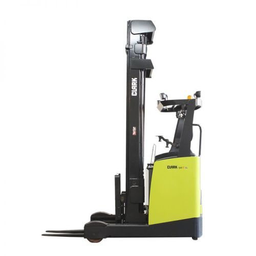 electric reach truck / side-facing seated / handling