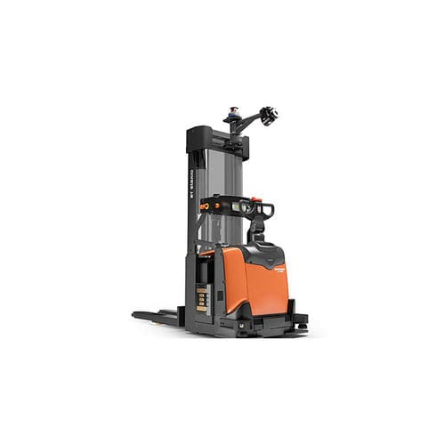 warehouse pallet truck / electric / side-facing seated / handling