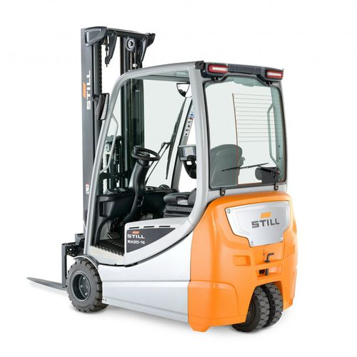electric forklift / ride-on / narrow-aisle / for warehouses