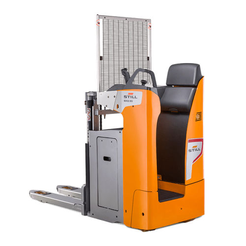 electric stacker truck / stand-on / for pallets / for trucks