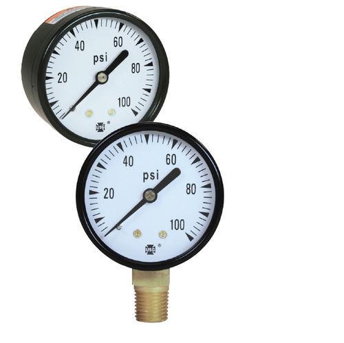 dial pressure gauge / Bourdon tube / process / for water